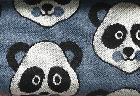Hamburger Liebe Pandabären Jeans Blau