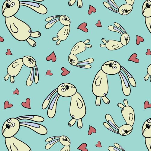 Knuffle Bunny - Floating Bunny Blue