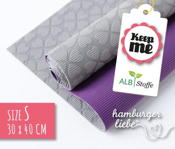 Keep Me S 30x40cm Grau Lila Albstoffe