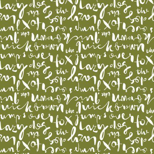 Typography Script Khaki