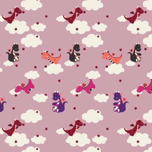 Biojersey Drachen Wolken Rosa