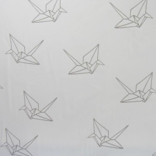 Hamburger Liebe Mono Oregami Flock Print 2 Weiß Grau