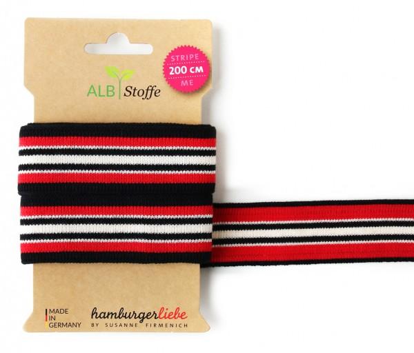 Stripe Me College 31 Band Rot Schwarz Weiß gestreift
