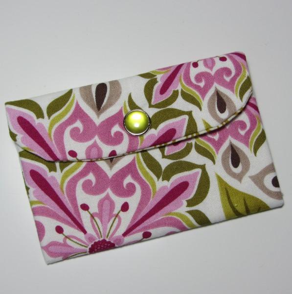 Kartentasche Rosa Grün