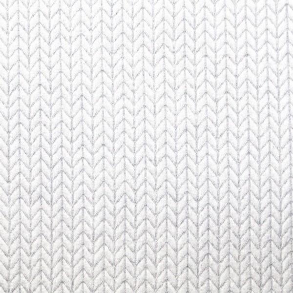 RESTSTÜCK 0,3m Hamburger Liebe Knit Knit Weiß-Grau