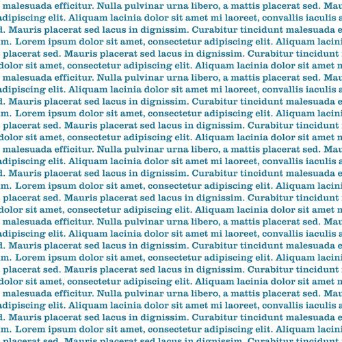 Typography Lorem Ipsum Teal