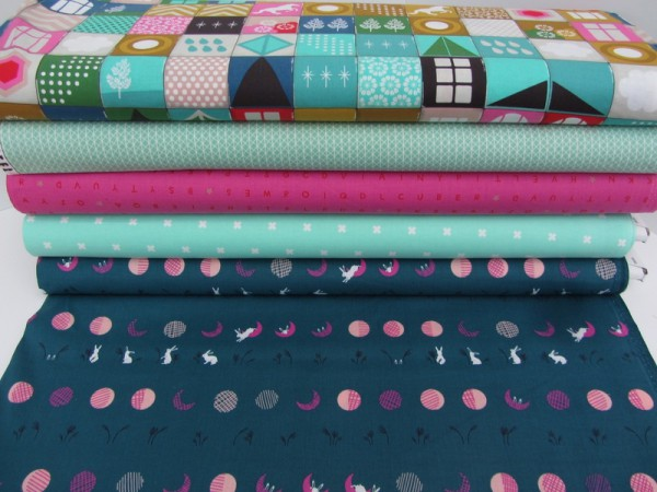 Cotton+Steel Kreuze Mint Weiß Patchworkstoff