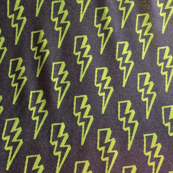 Bliss Flash Back Neon GRÜN GELB Reflektor Jacquard Jersey 90cm-Breite