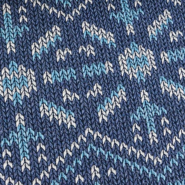 Hamburger Liebe Check Point Knit Knit Snowflake Blau