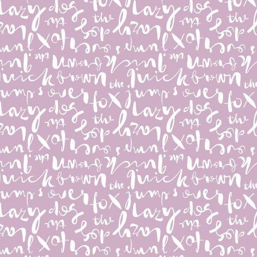 Typography Script Lavender