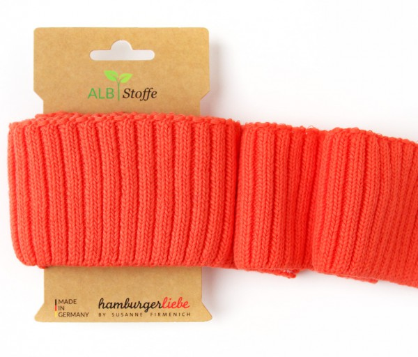 Cuff Me Cozy Grobstrickbündchen Orange A78