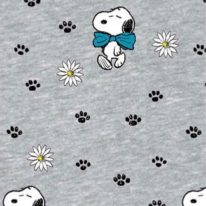 Biojersey Snoopy Peanuts Schleife Hellgrau Meliert