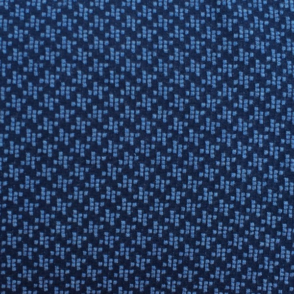 Hamburger Liebe Check Point Windmill Knit Navy Blau Jeans Melange