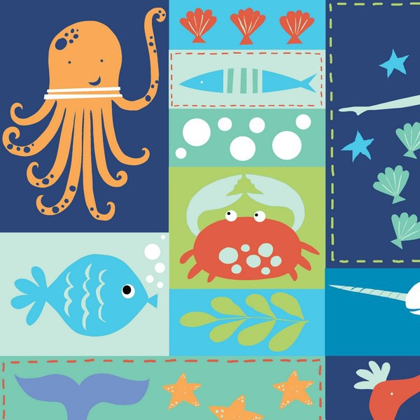 Monaluna - Under The Sea - Sea Life Patchwork