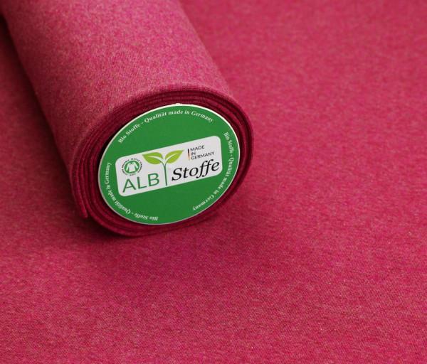 Bündchen Lampone Melange Pink Weinrot