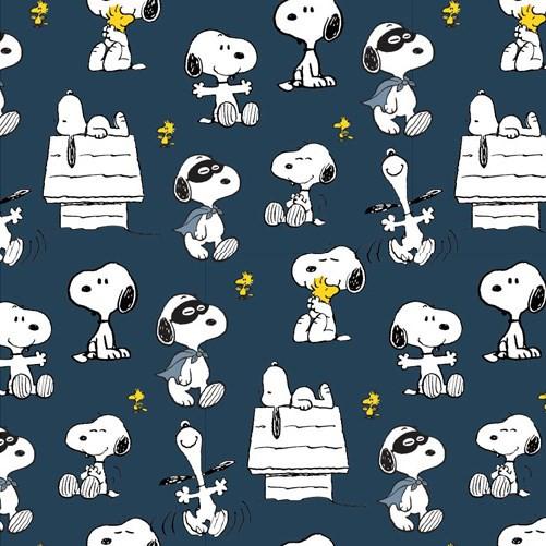 Biojersey Snoopy Peanuts Maske Indigo Blau