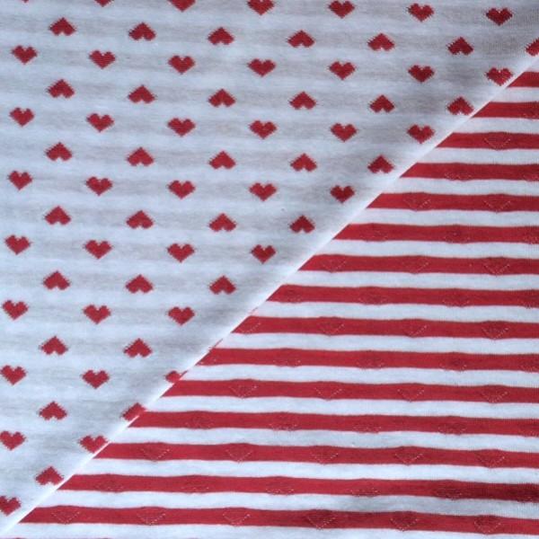 Herzenliebe Doubleface Jersey Rot