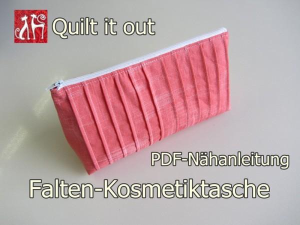 Nähanleitung Falten-Kosmetiktasche
