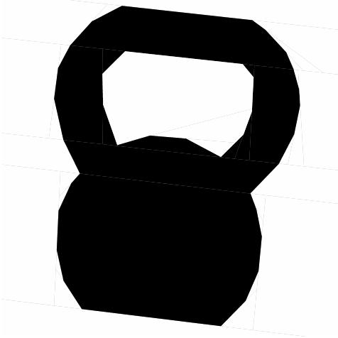 Kugelhantel Paper Piecing Vorlage
