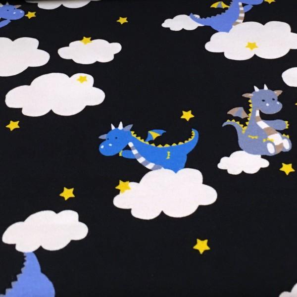 Biojersey Drachen Wolken Navy Blau