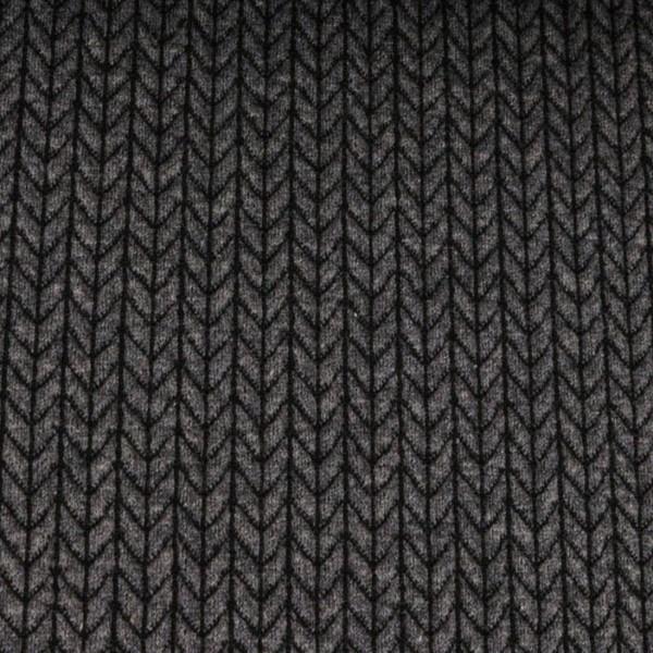 RESTSTÜCK 0,3m Hamburger Liebe Big Knit Knit Dunkelgrau