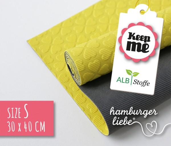 Keep Me S 30x40cm Gelb Dunkelgrau Albstoffe