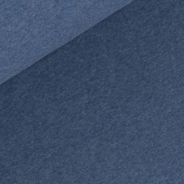 Bündchen Jeans Blau Melange