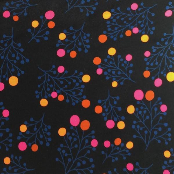 RESTSTÜCK 0,25m Snowberry SWEAT Navy - Hamburger Liebe Plain Stitches