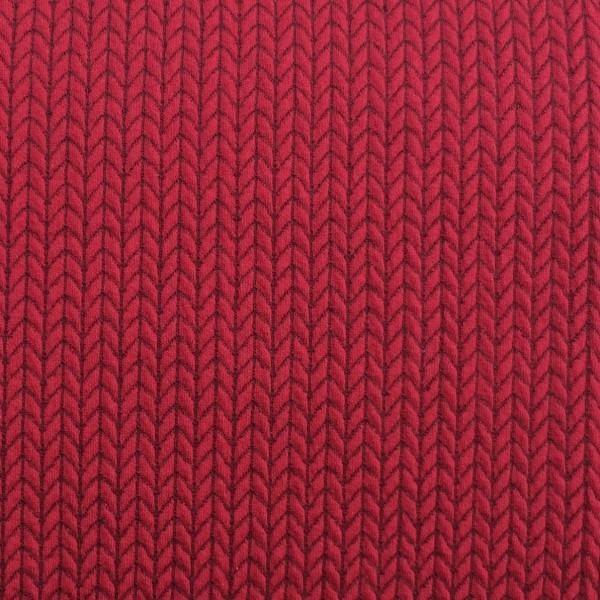 Hamburger Liebe Check Point Big Knit Knit Prugna Rot