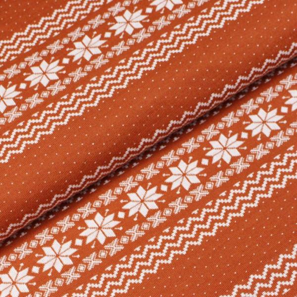 RESTSTÜCK 0,5m Norweger Bordüre Nepal Orange Weiß