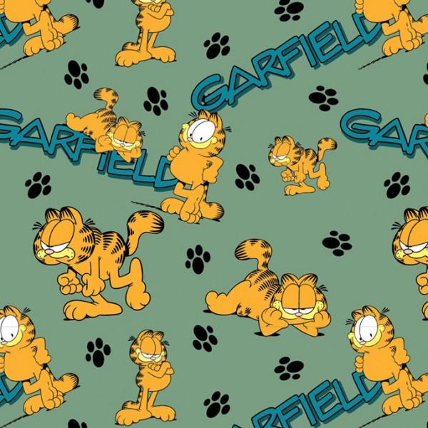 Biojersey Garfield Katzen Pfoten Grün