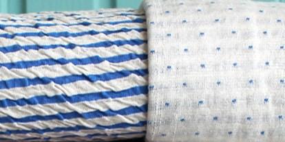 Cloqué Doubleface-Jersey Blau