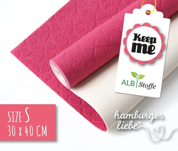 Keep Me S 30x40cm Pink Weiß Albstoffe