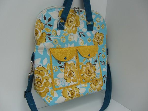 Handtasche Blau Gelb