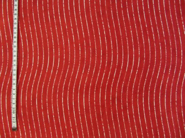 Rot Beige gewellte Streifen - Dear Santa