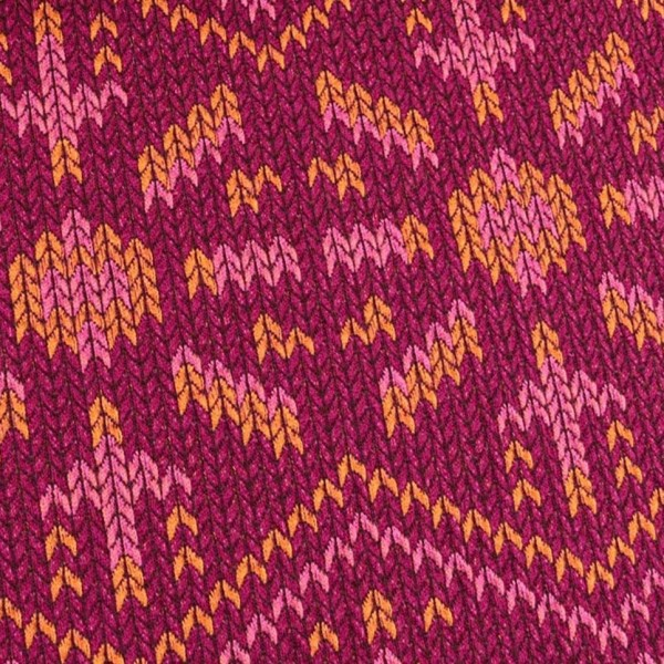 Hamburger Liebe Check Point Knit Knit Snowflake Rot