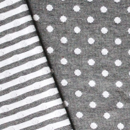 Punkteliebe Doubleface Jersey Grau