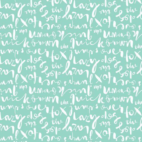 Typography Script Turquoise