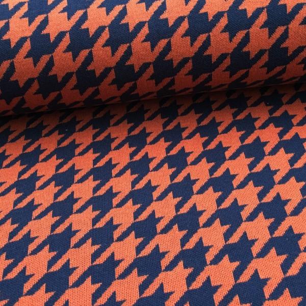 Hamburger Liebe Mini Houndstooth Orange Navy