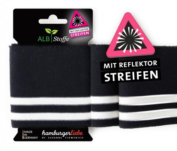 Cuff Me Reflektor Safety 6 Schwarz Meringa