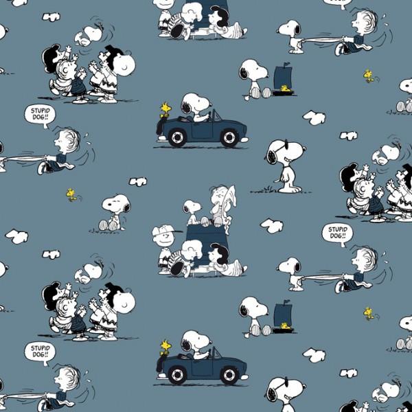 Biojersey Snoopy Peanuts Cabrio Denim Jeansblau