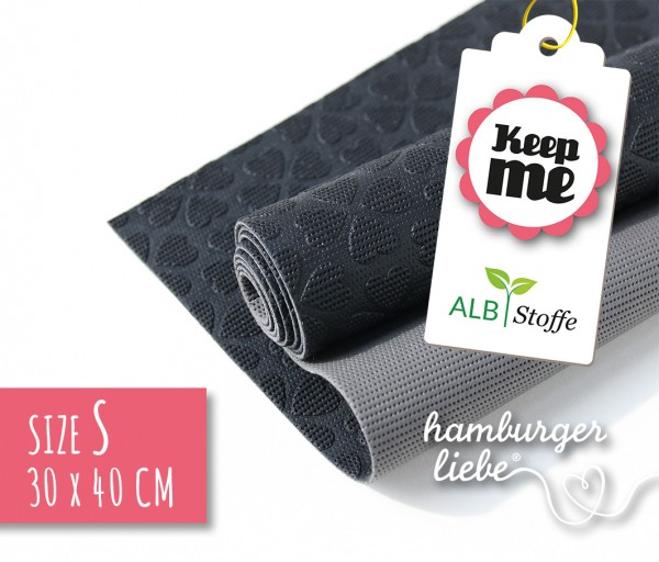 Keep Me S 30x40cm Schwarz Grau Albstoffe