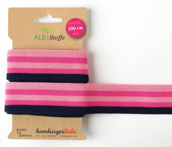 Stripe Me College 47 Band Ortensia Navy Rosa Scuro