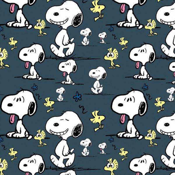 Biojersey Snoopy Peanuts Faces Indigo Blau