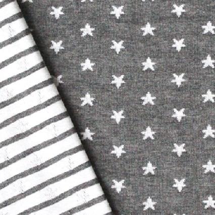 Sternenliebe Doubleface Jersey Grau
