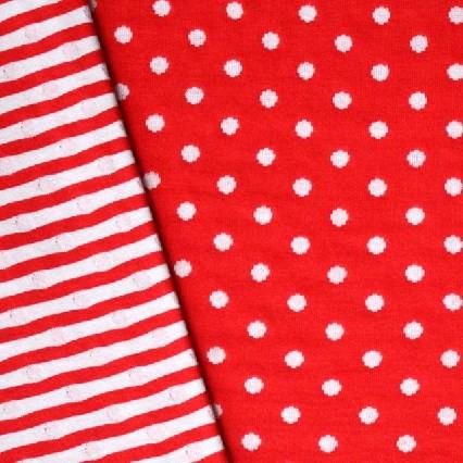 Punkteliebe Doubleface Jersey Rot