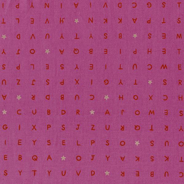 Cotton+Steel Buchstaben Pink