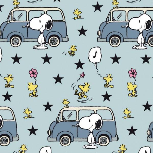 Biojersey Snoopy Peanuts Snoopy und Minivan eisblau