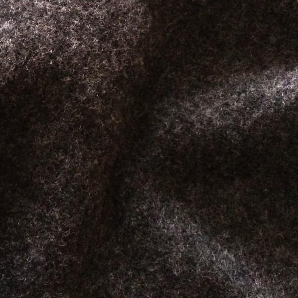 Merino-Wollfleece Anthrazit Dunkelgrau kbt Bio-Wolle GOTS