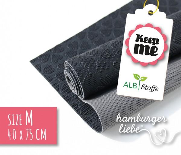 Keep Me M 40x75cm Schwarz Grau Albstoffe